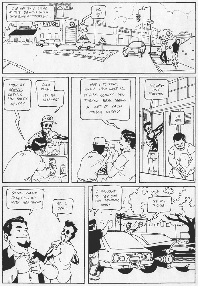 Page 2 of the third version of Jonny Crossbones