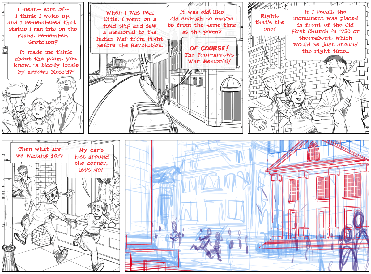 pencils for Dead Man at Devil's Cove, page 95B